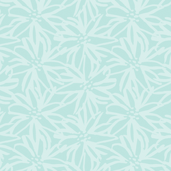 Painted Floral in Fresh Aqua