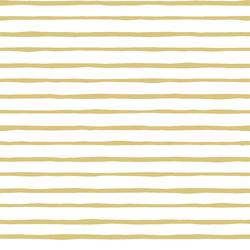 Artisan Stripe in Honey on White
