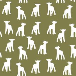 Lamb Silhouette in Jungle