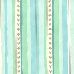 Stars and Stripes in Aqua Metallic