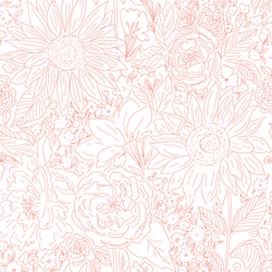 Paperie in Bright Coral on White