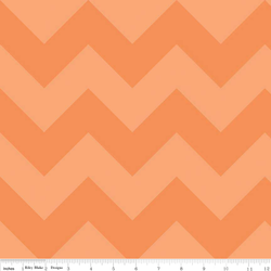 Large Chevron Tone on Tone in Orange