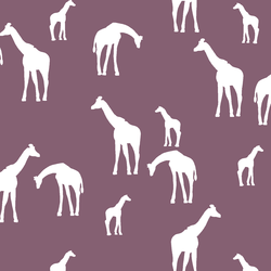 Giraffe Silhouette in Mulberry