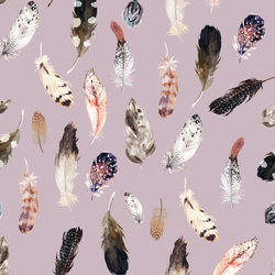 Falling Feathers in Mauve