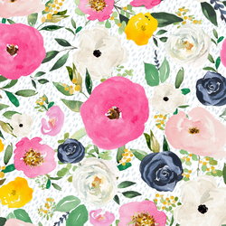 Free Falling Florals in Spring Rain