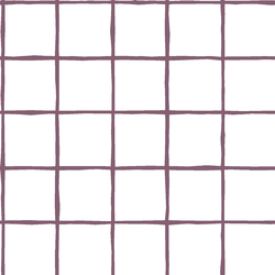 Windowpane in Mulberry on White