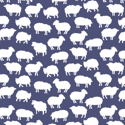 Sheep Silhouette in Indigo