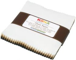 """Kona Solid 5"""" Square Pack in Neutrals"""