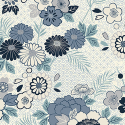 Floral Montage in White