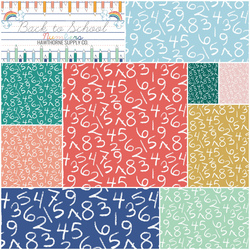 Back to School Numbers Fat Quarter Bundle