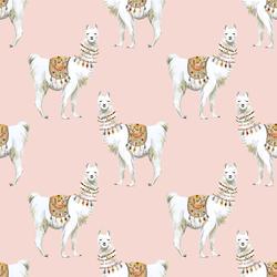 Llamas in Pink
