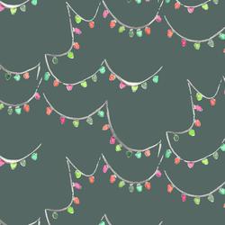 Holiday Lights in Dark Spruce