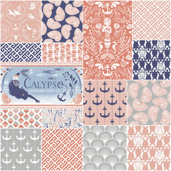 Calypso Fat Quarter Bundle in Aegean