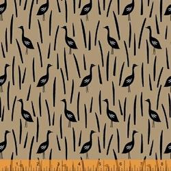 Cranes in Field in Linen