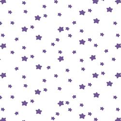 Star Light in Ultra Violet on White