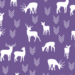 Deer Silhouette in Ultra Violet