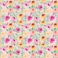 Small Berry Floral in Whisper Pink