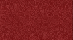 Scallop Dot in Cranberry
