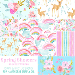 Spring Showers Fat Quarter Bundle in May Flowers