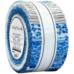 """Holiday Flourish 15 2.5"""" Strip Roll in Blue Colorstory"""