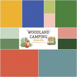 Woodland Camping Fat Quarter Bundle in Polka Dots