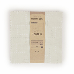 "Cotton and Steel Basics 5"" x 5"" Pack in Neutral"