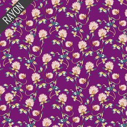 Tranquil Flowers Rayon in Plum
