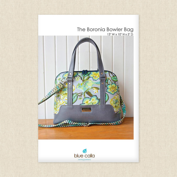 The Boronia Bowler Bag Sewing Pattern by Blue Calla at Hawthorne ...