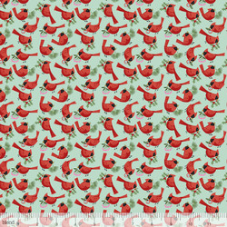 Redbirds in Aqua