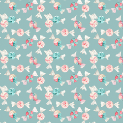 Small Peppermint Candy in Frosty Teal
