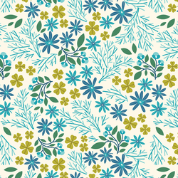 Minty Foliage in Ivory