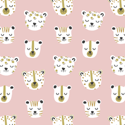 Jungle Cats in Blush