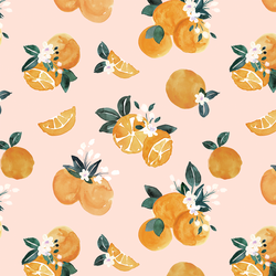 Vintage Oranges in Pink Blossom