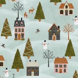 December Village in Frosty