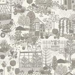 Garden Scene in Grey