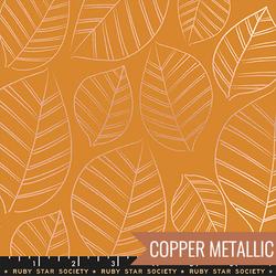 Leafy in Metallic Caramel
