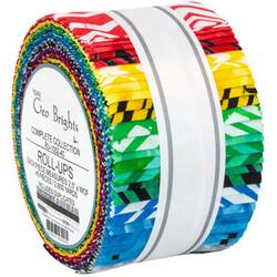 "Geo Brights Artisan Batiks 2.5"" Strip Roll"