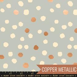 Chunky Dots in Metallic Pewter