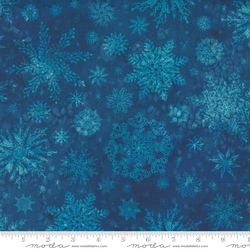 Snowflakes in Christmas Navy