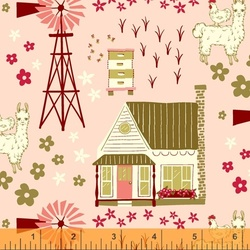 Homestead Vignette in Shirley Poppy
