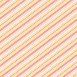 Summer Stripe in Sunrise Pink