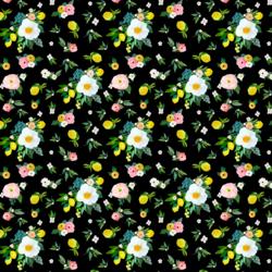 Small Lemon Blossoms in Black