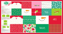 Safety First Holiday Mask Panel in Multi