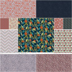 The Summer House Collection Fat Quarter Bundle in Red
