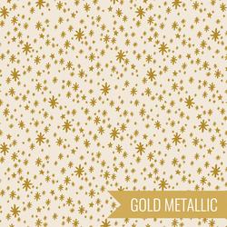 Starry Night in Cream Metallic