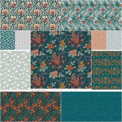 The Hesketh House Collection Fat Quarter Bundle in Vintage