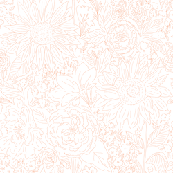 Paperie in Coral Dream on White