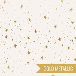 Stars in Cream Metallic