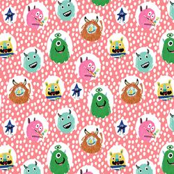 Little Monsters Dot in Peach