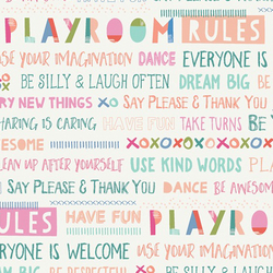 Playroom Rules in White